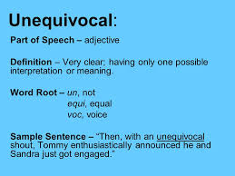 unequivocal